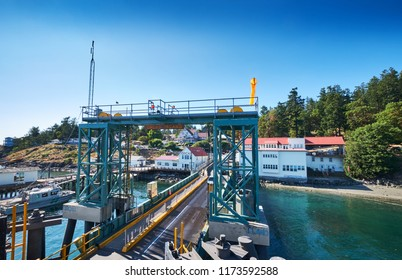 Orcas Island ferry terminal and car loading ramp