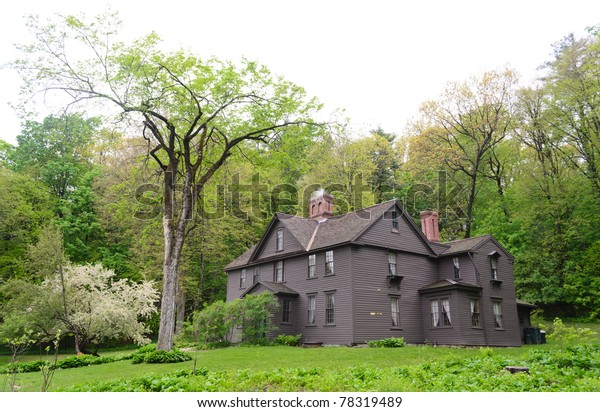 The Orchard House, historic home of Louisa May Alcott