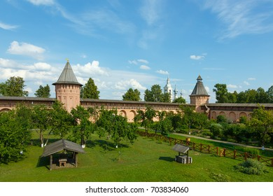 Orchard on the territory of the Spaso-Evfimiev monastery in Suzdal, Russia.