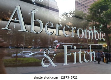 ORCHARD, SINGAPORE - JAN 4, 2019 : Exterior view of Abercrombie & Fitch fashion store at Orchard Road. It is an American lifestyle retailer that focuses on upscale casual wear.