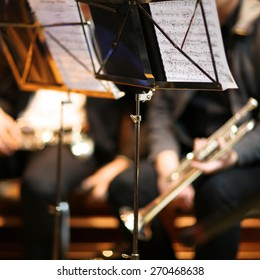 Orchestra music stands