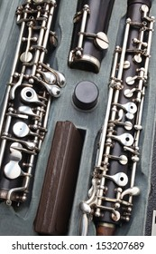 Orchestra musical instrument oboe. Woodwind classical music