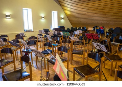 Orchestra room before the rehearsal
