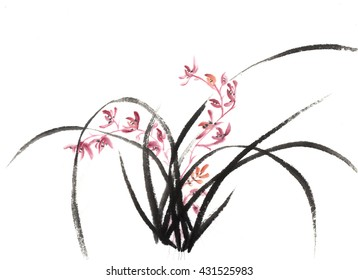 Orchid with nature