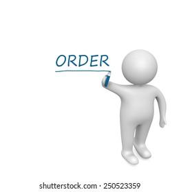 Order drawn by a white man
