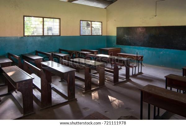 Un aula normal en una escuela africana.