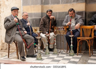Ordinary day at market Al-Hamidiyah in the old city of Damascus (Before Civil War), February 23, 2010