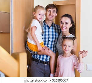 Ordinary middle class family moving in new house