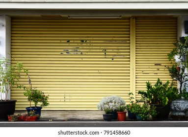Ordinary residential building facade in rural area of Taiwan