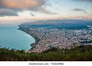 Ordu city from Boztepe