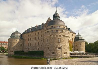 Orebro Castle. The medieval castle fortification in Orebro, Narke, Sweden.