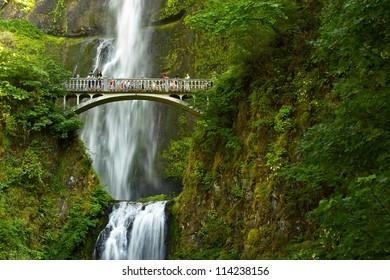 Oregon Multnomah Falls, Oregon, USA. Waterfalls Photo Collection