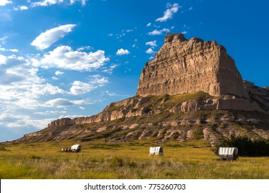 Oregon trail parkway in Scotts Bluff National Monuments, Nebraska. USA