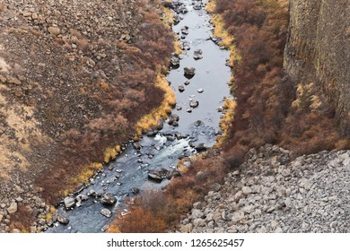 Oregon's Crooked River as seen from a bridge at Peter Skene Ogden State Park in Oregon.