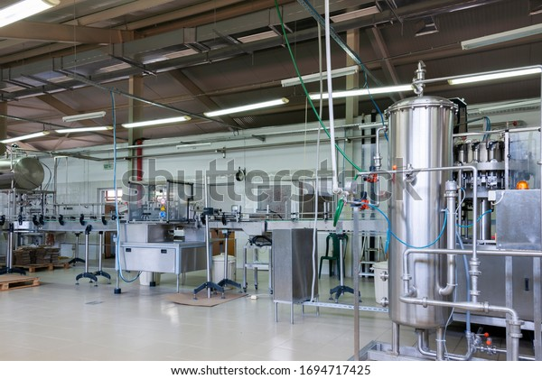 Orehovo, Bulgaria. 04/01/2020. Idle production line. Although Bulgaria is not hardly hit by the COVID-19 pandemic the strict preventive rules of self isolation brought many business to standstill .