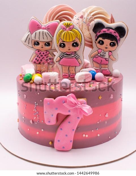 Stupendous Orel Russia July 2019 Cake Pink Stock Photo Edit Now 1442649986 Funny Birthday Cards Online Inifodamsfinfo