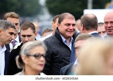 Orel, Russia, September 5, 2015: Vadim Potomsky, Orel governor smiling