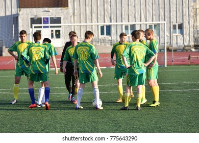 Orenburg, Russia, 8 June 2017 year: Boys play football at the Open Championship Cup amongst the CKF