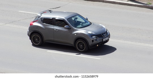 Orenburg, Russia - August 9,2018: Nissan Juke  rides on the road