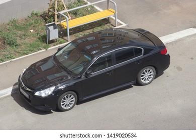 Orenburg, Russia - June 08,2019: Subaru Legacy rides on the road