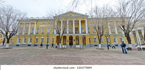 Orenburg, Russia - March 29, 2019: Local history museum