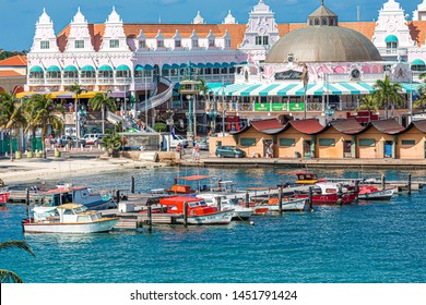 ORENJASTAD, ARUBA - February 22, 2017: Being south of the hurricane belt and because of the constant breeze, temperatures and little rain, Aruba is a year round tourist and cruise ship destination.