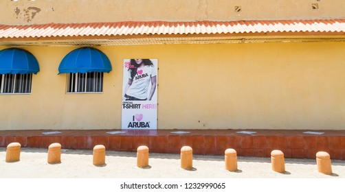 ORENJASTAD, ARUBA - May 20, 2015: Being south of the hurricane belt and because of the constant breeze, temperatures and little rain, Aruba is a year round tourist and cruise ship destination.