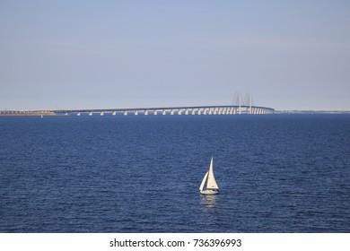 Oresund bridge: the bridge between Malmo, Sweden and Copenhagen, Denmark