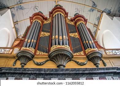 Organ Inside The Church Of Broek In Waterland The Netherlands 2018