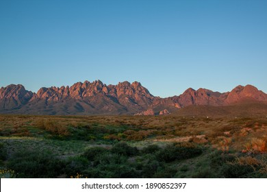 The Organ Mountains of New Mexico under the desert sun