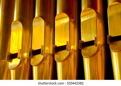 organ pipes, Bethel College chapel, Newton, Kansas