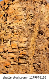 Organ pipes are an interesting geological feature found in the Twyfelfontein Valley, Namibia.