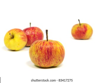 organic apple on a white background
