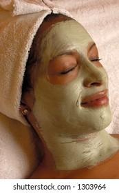 Organic aroma facial masque at Day Spa Salon