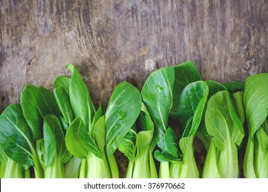Organic Baby Bok Choy on a Background
