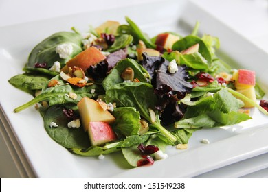 organic baby spring mix salad stacked