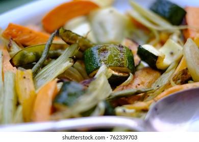 Organic bbq vegetables