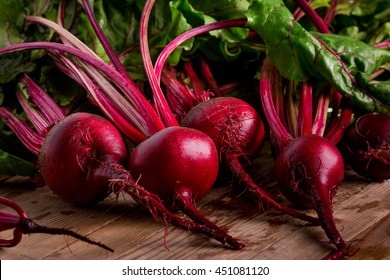 Organic Beetroot. Dark Red Beetroot.