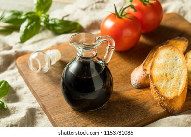 Organic Black Balsamic Vinegar in a Bottle