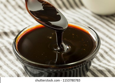Organic Black Cane Sugar Molasses in a Bowl
