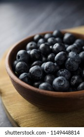 Organic blueberry in bowl