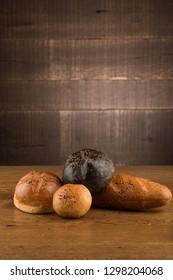 organic breads on wood