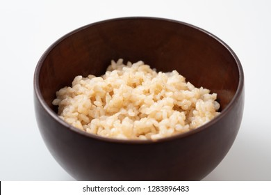 Organic Brown Rice in the bowl