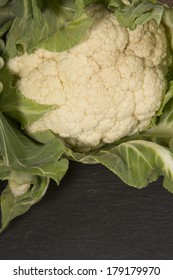 Organic Cauliflower dark background