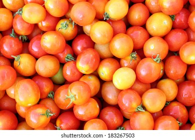 organic cherry tomato for background and texture