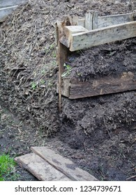 Organic compost in the permaculture farm  - sustainable gardening  - food forest production.