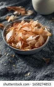Organic Dried Japaense Dried Bonito Flakes in a Bowl