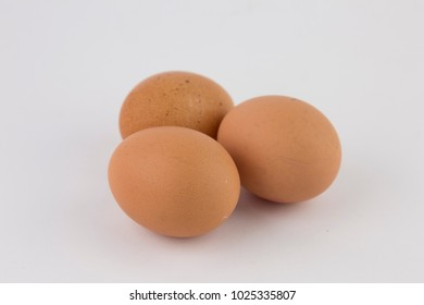 Organic eggs isolated