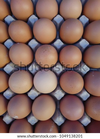 Organic Eggs On Display Farmers Market Stock Photo (Edit Now