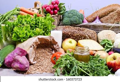 Organic food compilation
